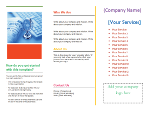 tri fold brochure measurements