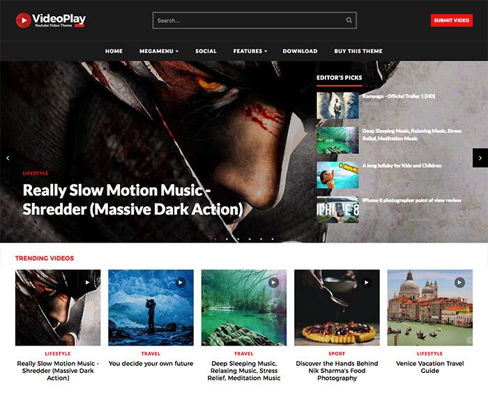 VideoPlay is Fully Automated Youtube Video Blogger Template. Just ...