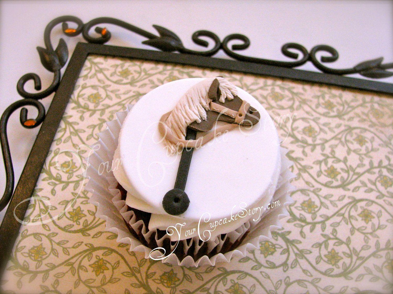 horse head cupcake Fondant cupcakes, Fondant cupcake