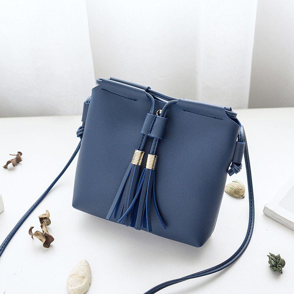 Fashion Tassel Women Bag PU Leather Flap Shoulder Messenger Bag Luxury Handbag Crossbody Bags for Women bolsa