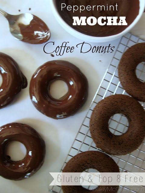 Peppermint Mocha Coffee Donuts Gluten Top 8 Allergy Free