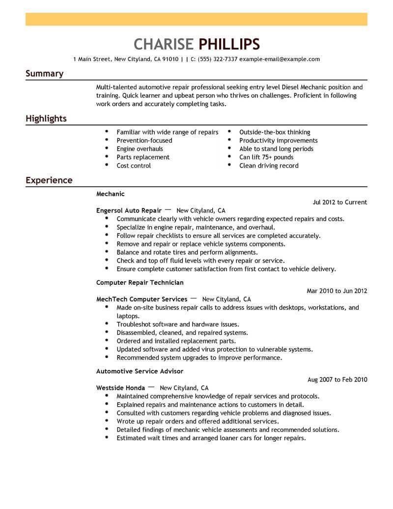 Aircraft Mechanic Resume No Experience Resume No Experience Job Description Aircraft Mechanics