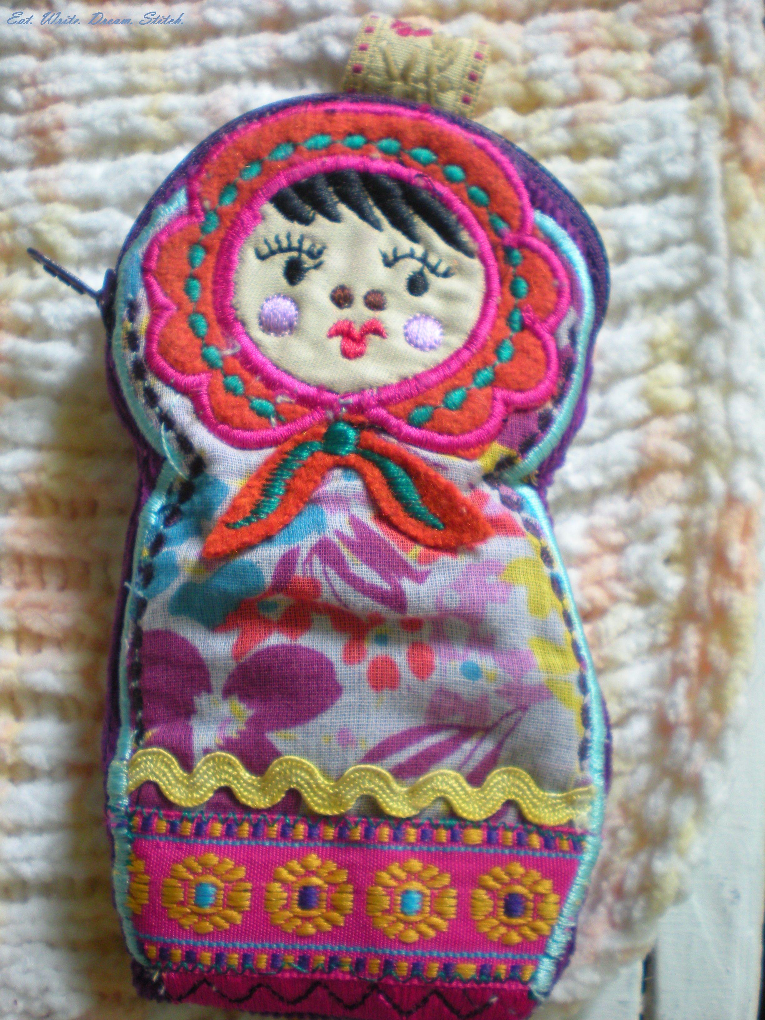Russian Doll coin purse