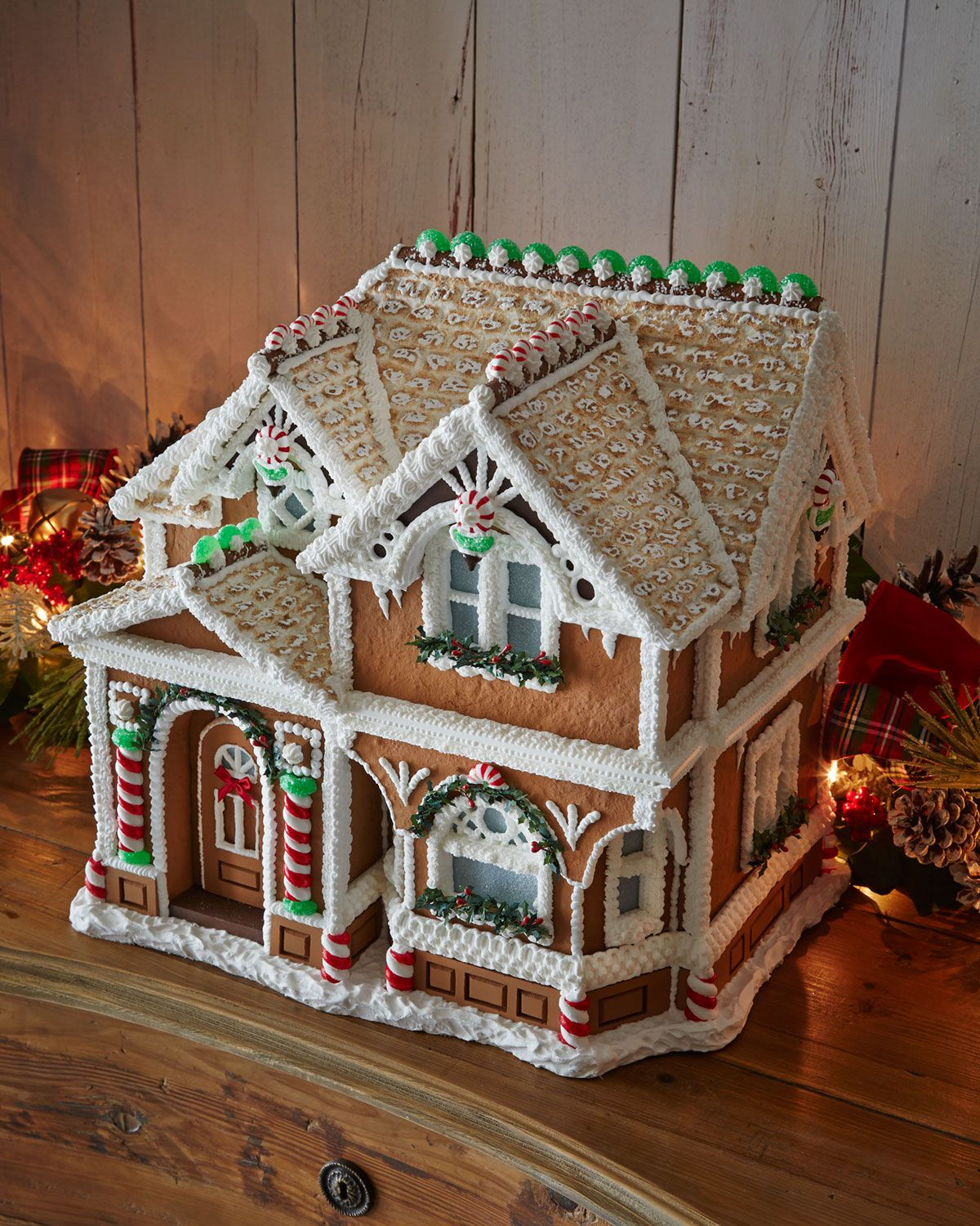 Peppermint Porch Gingerbread House | Christmas- Gingerbread Houses ...