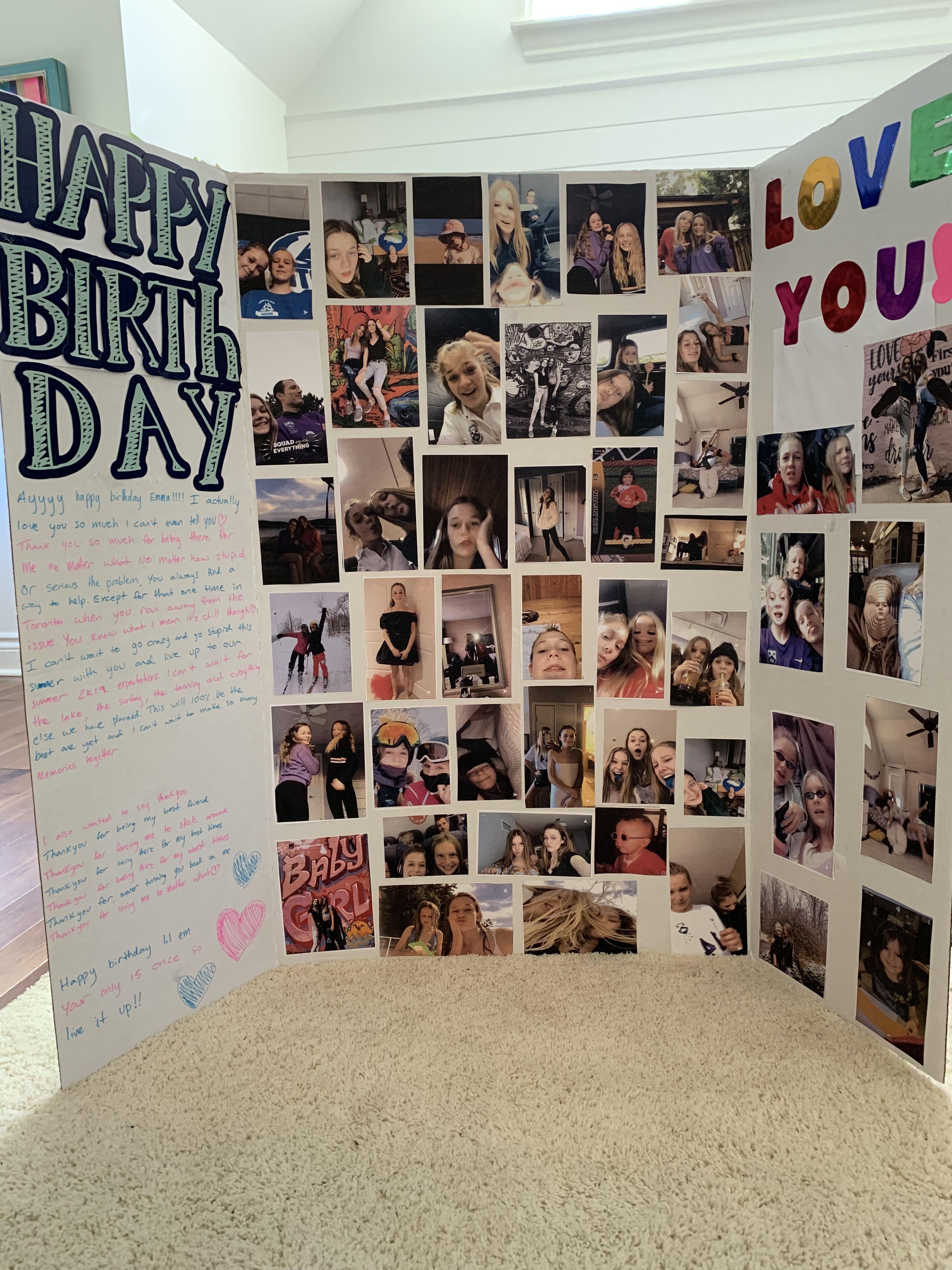 Birthday Gift Idea Card Big Birthday Cards Best Friend Birthday Cards Diy Best Friend Gifts