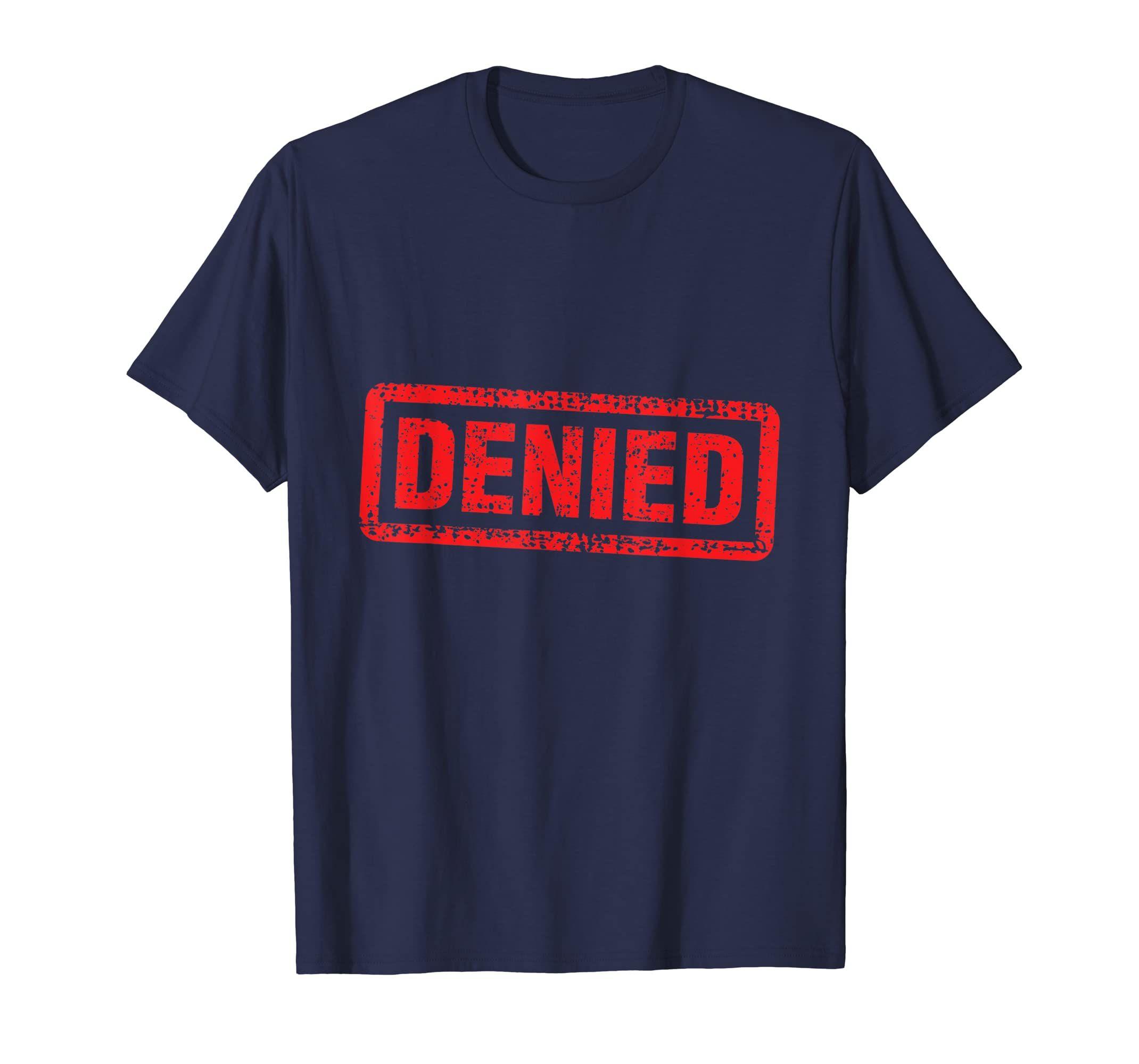 Denied Grunge Distressed Stamp T-Shirt-Teehay