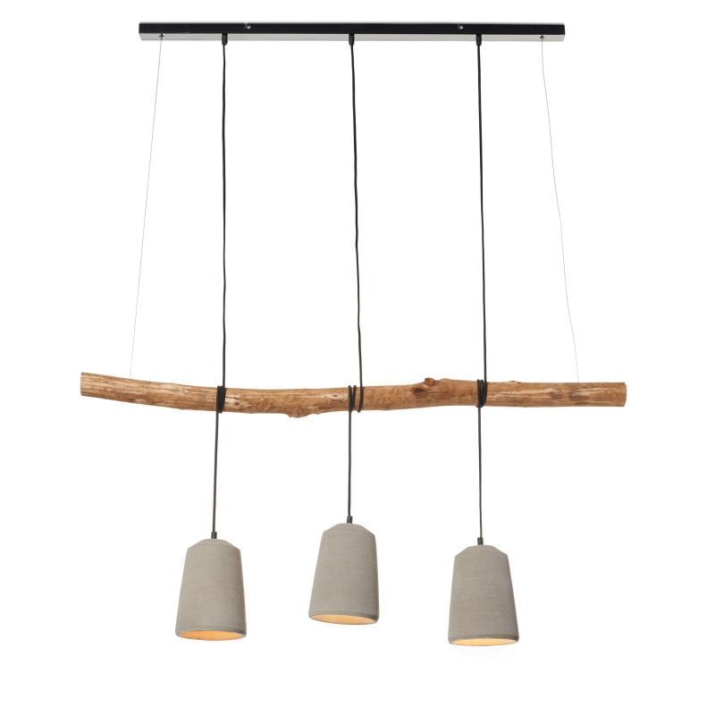 deckenleuchte lampe aus beton h ngelampe industrial look esstischlampe mit ast in m bel. Black Bedroom Furniture Sets. Home Design Ideas