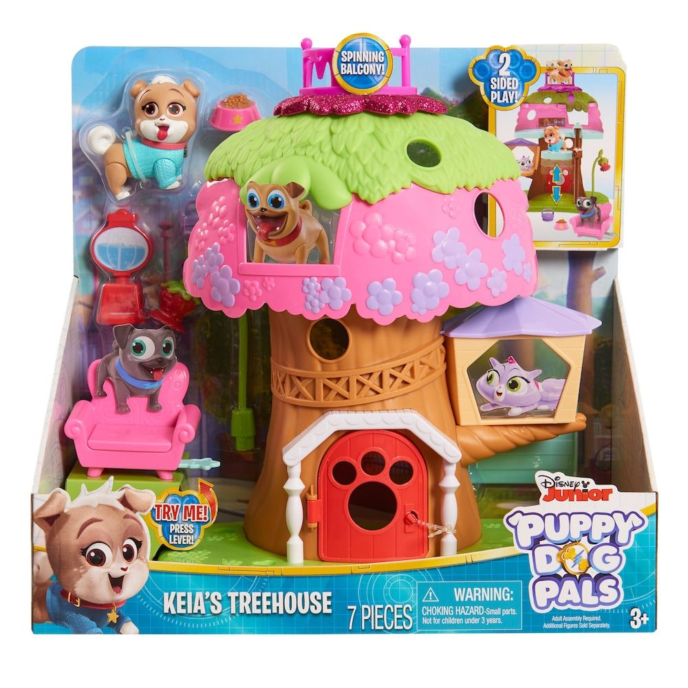Disney S Puppy Dog Pals Keia S Treehouse Playset Dogs Puppies