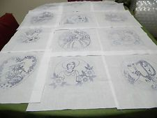 Southern Belle/ Ladys Silhouette Stamped Embroidery 12 Quilt Blocks/{ Set #3}