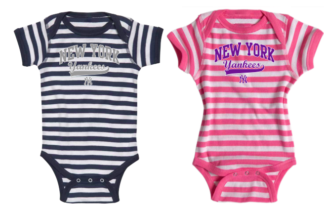 New York Yankees Infant Striped Baby Rip Creeper