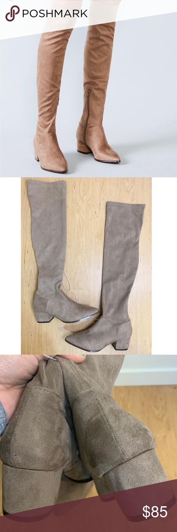 Carli OTK vegan block heel boots