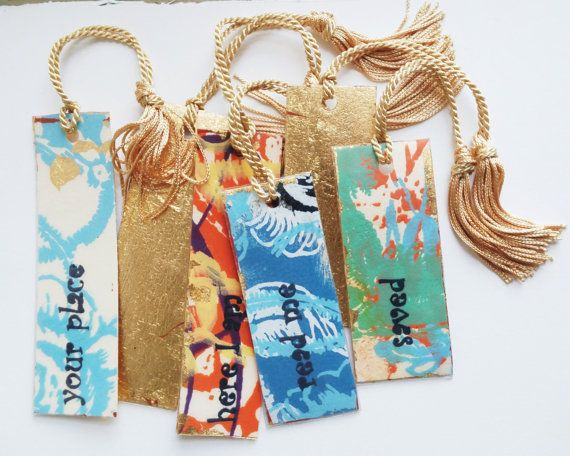 Book Lover's Gift Colorful Unique Paper Bookmark by OMireyaStudio
