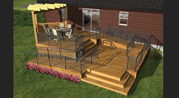 Planimage cette terrasse en bois est id ale pour les for Plan patio terrasse