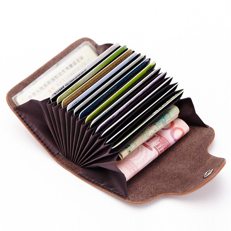 New 12 cards women men\'s genuine leather credit card holders cases ...