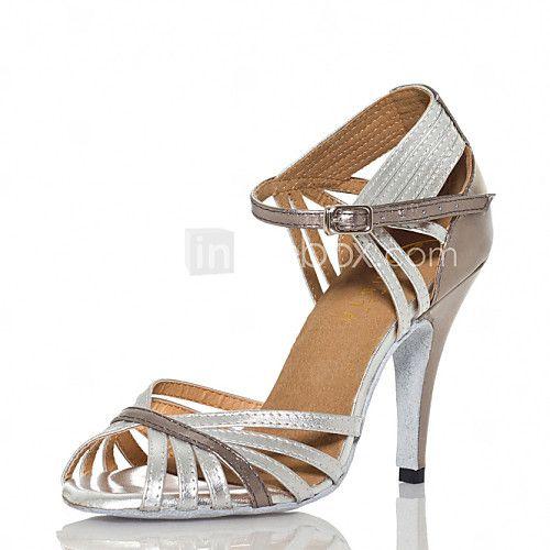 Zapatos de bailes de seda sintética zapatos de salsa 9oSWrGJ