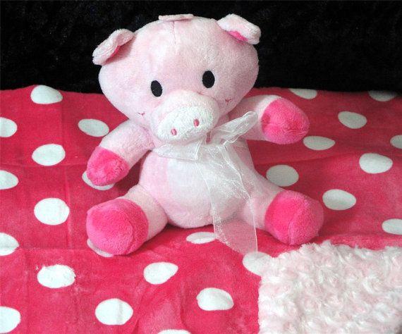 Piggie Squeaker Toy Blanket Cuddle Critter Pig Pig By Rendachs