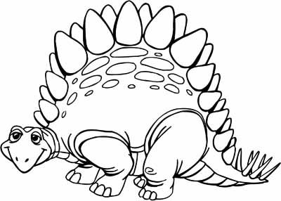 Dinosaur coloring pages for dino manners lesson | zCards (Animals ...