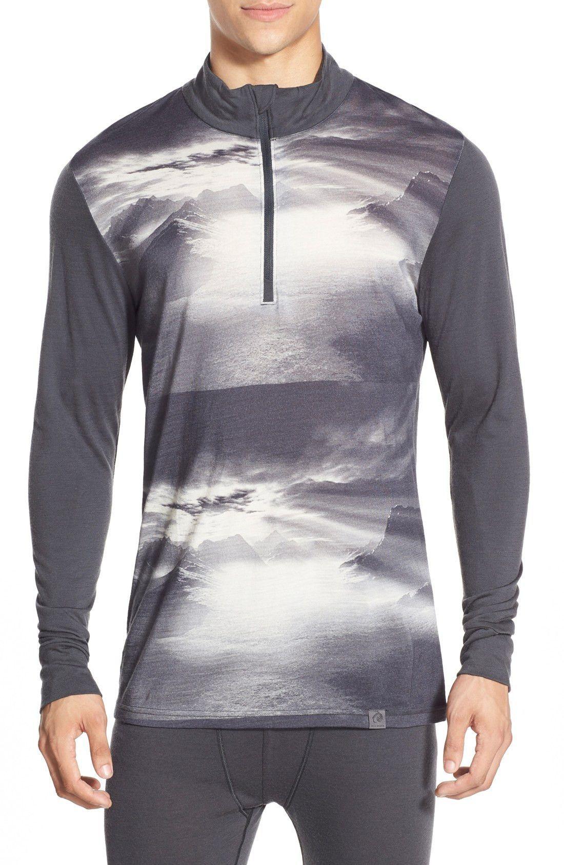 Helly Hansen Base Layer Half Zip Natural Graphics T-Shirt
