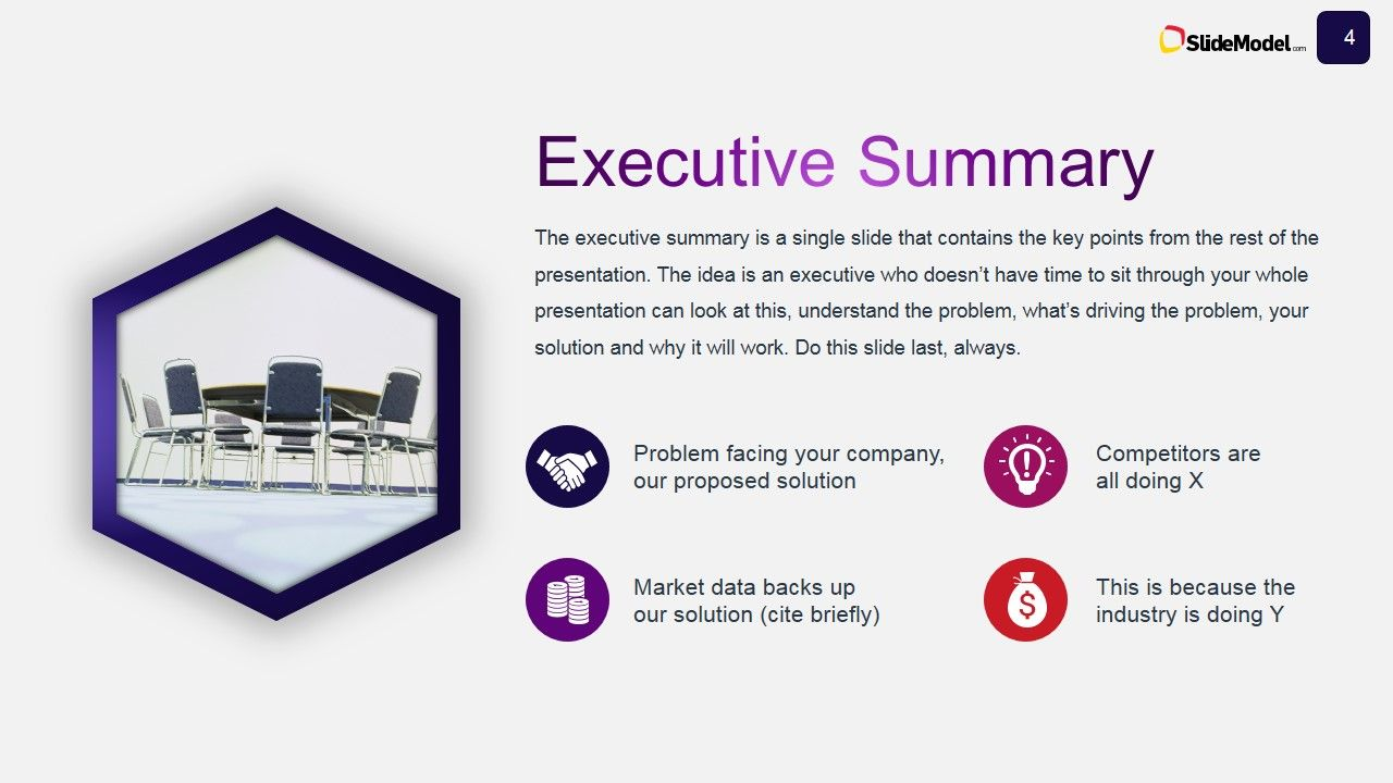 Business Case Studies Executive Summary Slide Design SlideModel ...