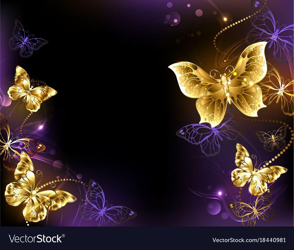 Golden Butterfly Png And Psd Butterfly Clip Art Butterfly Clip Art
