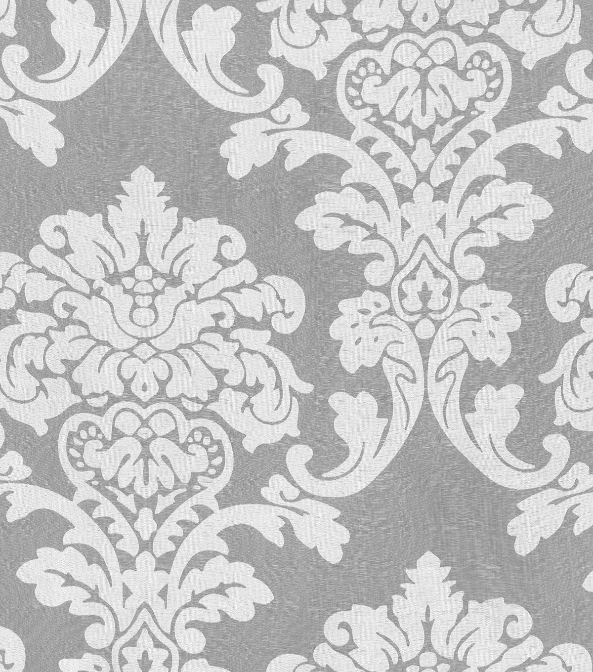 "waverly sheer fabric 54""-damask burnout sheer 