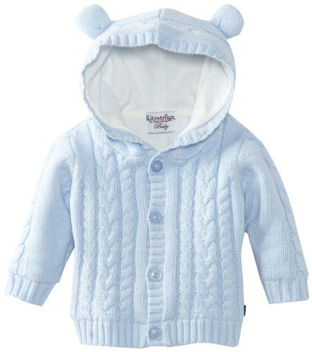 Hartstrings Baby-Boys Newborn Hooded Cotton Sweater Cardigan ...