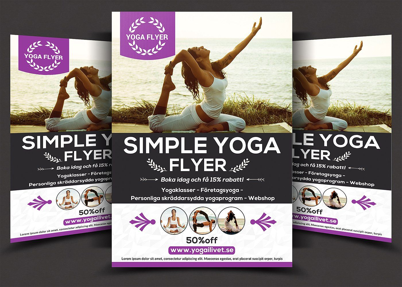 Yoga Flyer Template Psd Word And Indesign Format Yoga Wear