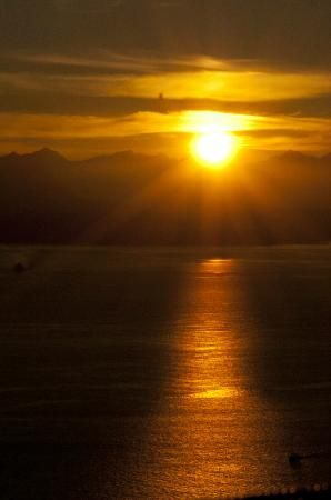 Seattle, WA: sunset from observation deck
