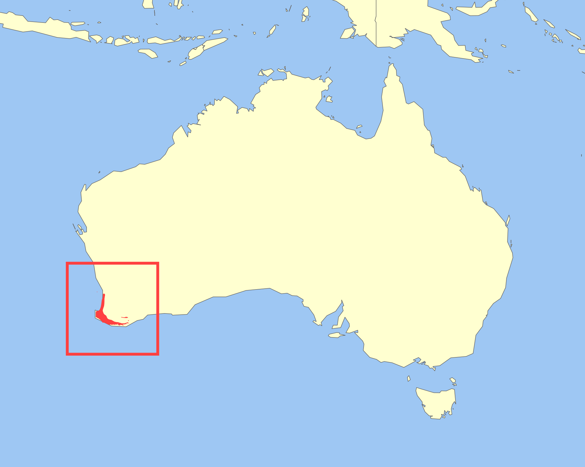Map Of Australia Islands.Quokkas Are Mainly Found On 2 Islands West Off The Coast Of Western