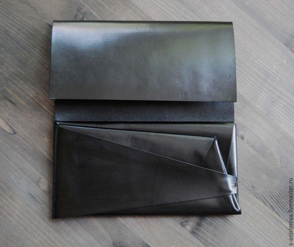 64d9e7599212 Купить Кошелек Оригами. - черный, однотонный, оригами, оригинальный подарок,  оригинальный аксессуар, необычный подарок