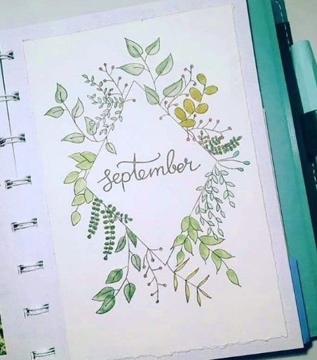 Photo of September Bullet Journal Ideas – Monthly Layout Spread – Cover Page – Setup