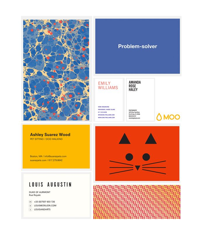 More business cards choices Caitlin considered from MOO. #Luxe ...