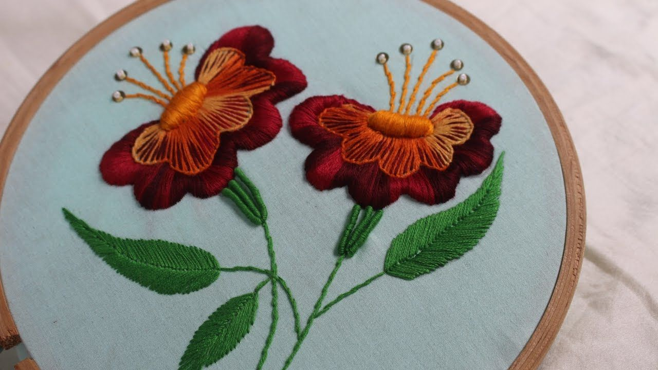 Hand Embroidery Designs   Jacobean flower design   Stitch and ...