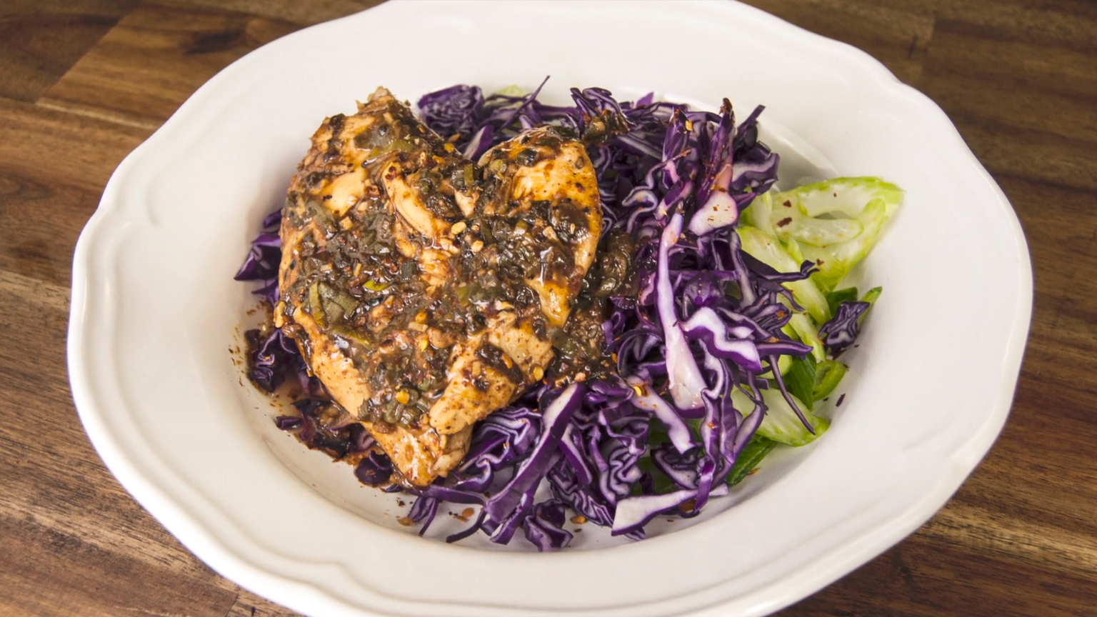 Try the Asian Chicken Snow Pea Slaw. Ideal Protein Phase 1 Recipe is delicious and is also great for Phase 2 and Phase 3. Ideal Protein Protocol helps you Lose weight fast and safely. #IdealProtein #idealproteinrecipesphase1dinner