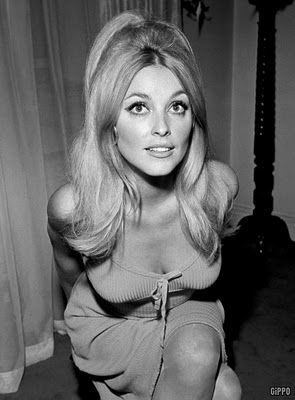 Gorgeous 60's lady in black and white