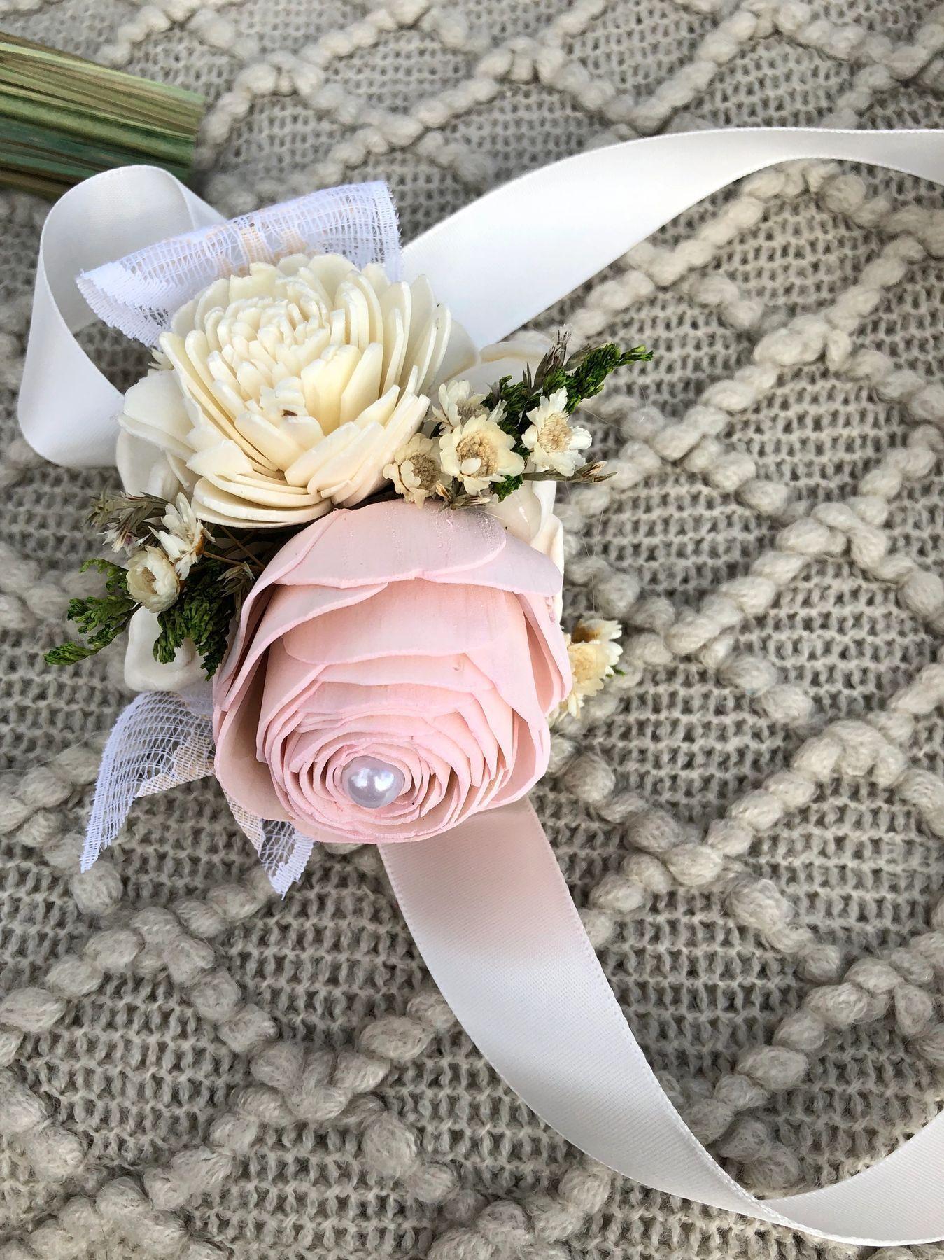 Wedding Bouquet Kits Wood flower bouquet, Sola wood