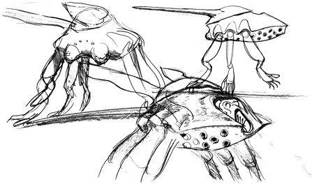 Gunbuster Alien Monster Design Humanoid Sketch Story Inspiration