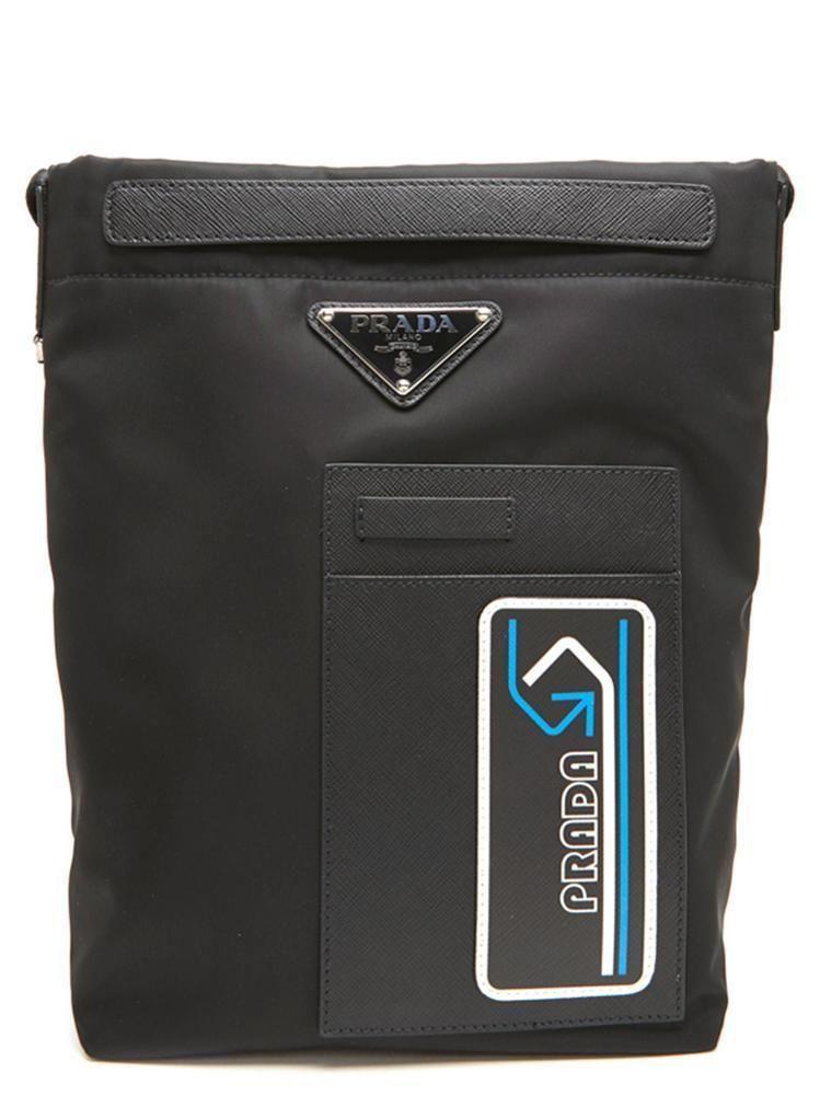181e3ccbf8b0 PRADA PRADA LOGO PLAQUE MESSENGER BAG. #prada #bags #leather #nylon ...