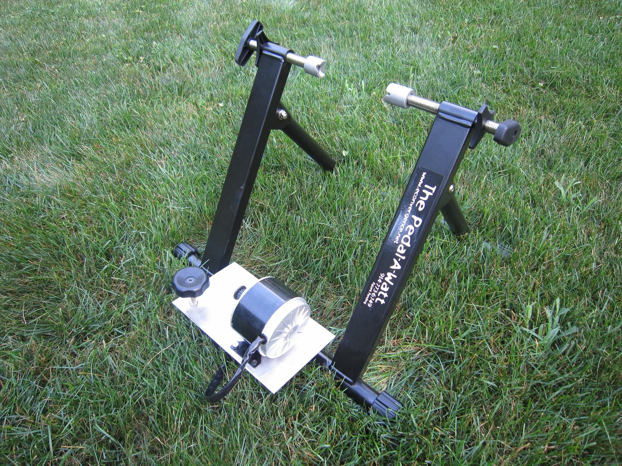 The Pedal A Watt Stationary Bike Power Generator 339 00 Exercise On Your Bicycle To Power Your Laptop Computer While Yo Power Generator Solar Power Diy Power