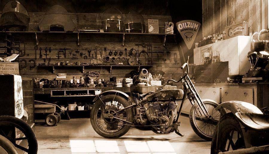 Garage Garage Genius Old Motorcycles Motorcycle