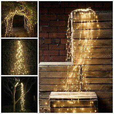 Advertisement Waterfall 200 Led String Fairy Light Window Curtain Lights Wedding Xmas Garden