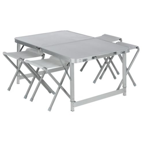 Fold Up Chairs Tesco Toilet Chair For Elderly Buy Double Folding Aluminium Camping Table Set From Our Furniture Range Com