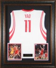 premium selection e78d6 5ca60 Yao Ming Signed Jersey Framed   Autographed Basketball ...