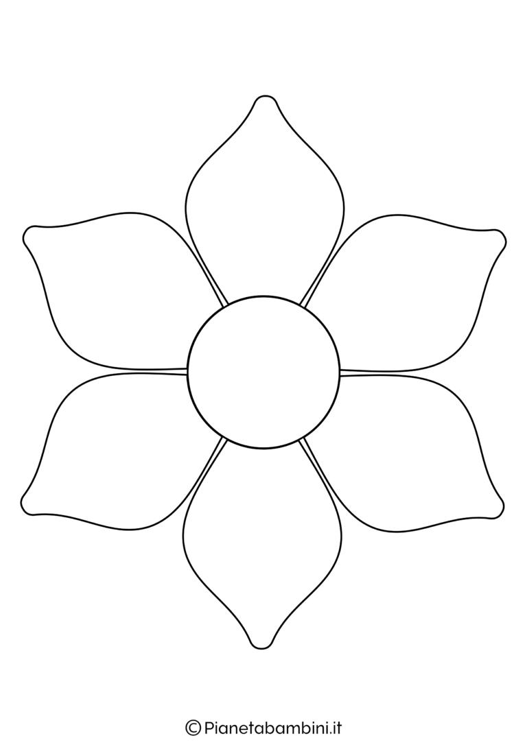 81 Sagome Di Fiori Da Colorare E Ritagliare Per Bambini Pianetabambini It Modello Di Farfalla Disegni Da Colorare Fiori Disegnati Da Colorare