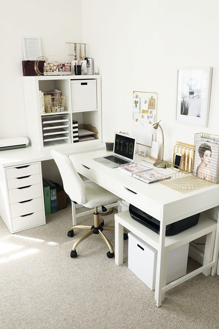 Bright white office via @tuliprim | Extra bedroom | Pinterest ...