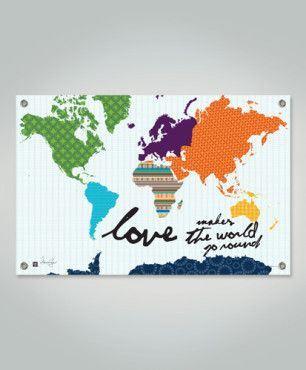 Love Makes The World Go 'Round - Wall Art