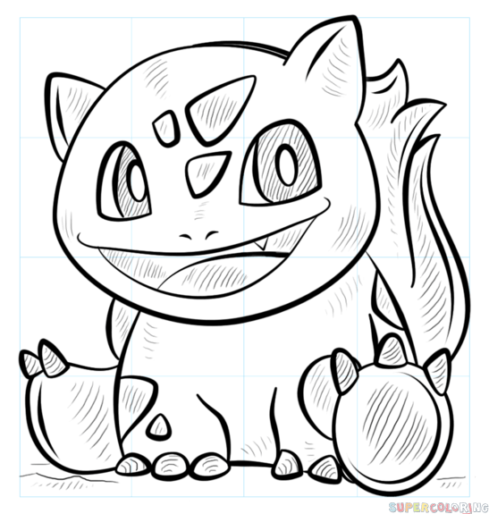 How To Draw Bulbasaur Pokemon Step By Step Drawing Tutorials Pokemon Coloring Pages Pokemon Coloring Pokemon Drawings