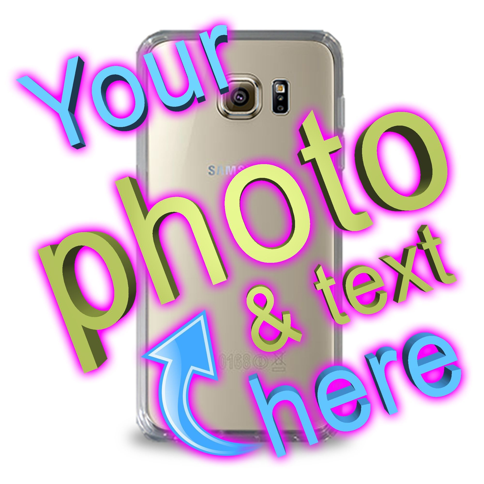 Clear galaxy s6 personalised phone cases personalized