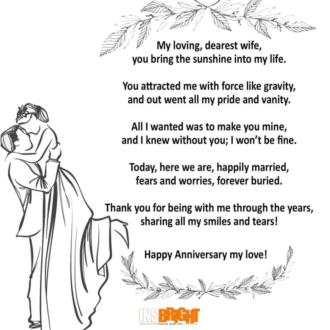 anniversary poems for wife in 2020 Happy anniversary
