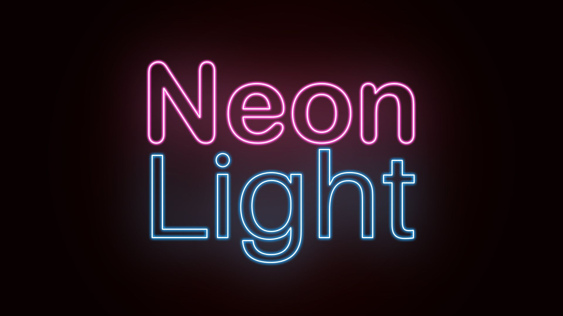 neon text effect photoshop